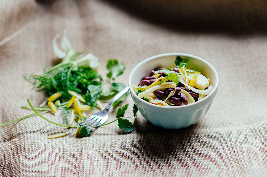 Kidneybohnensalat Gemüseregal