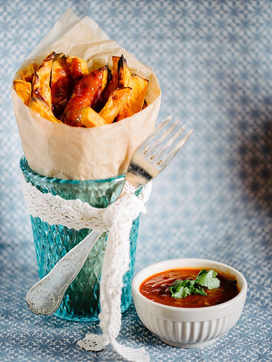 Mein veganer Adventskalender Süßkartoffelpommes