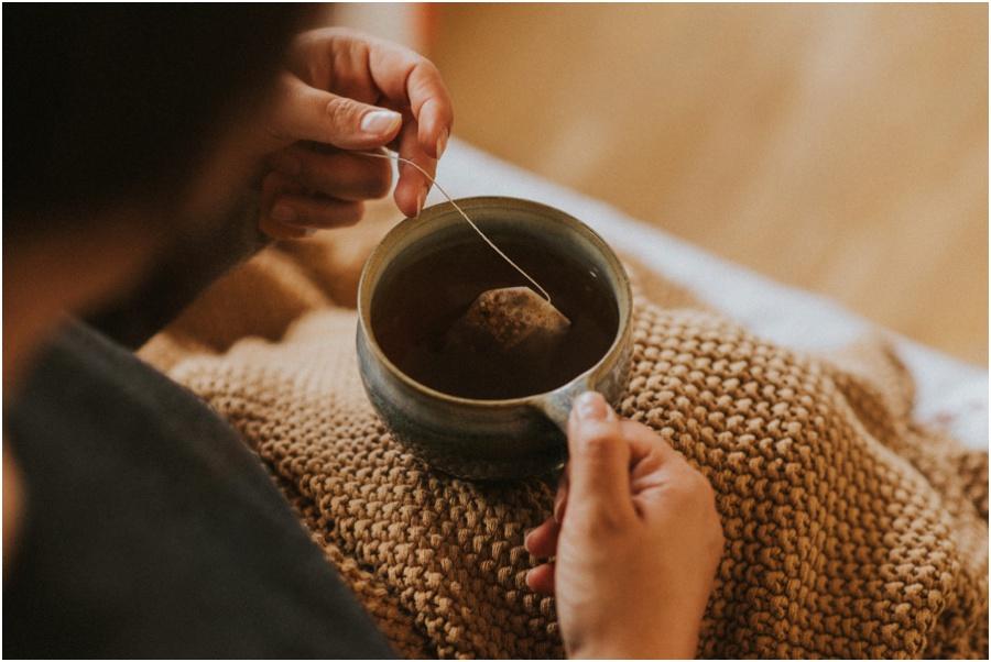 veganer Apfelkuchen - eingekuschelt mit Tee
