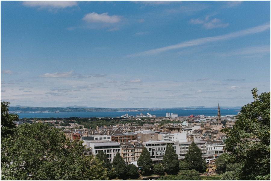 Auszeit in Schottland - Ausblick auf Edinburgh