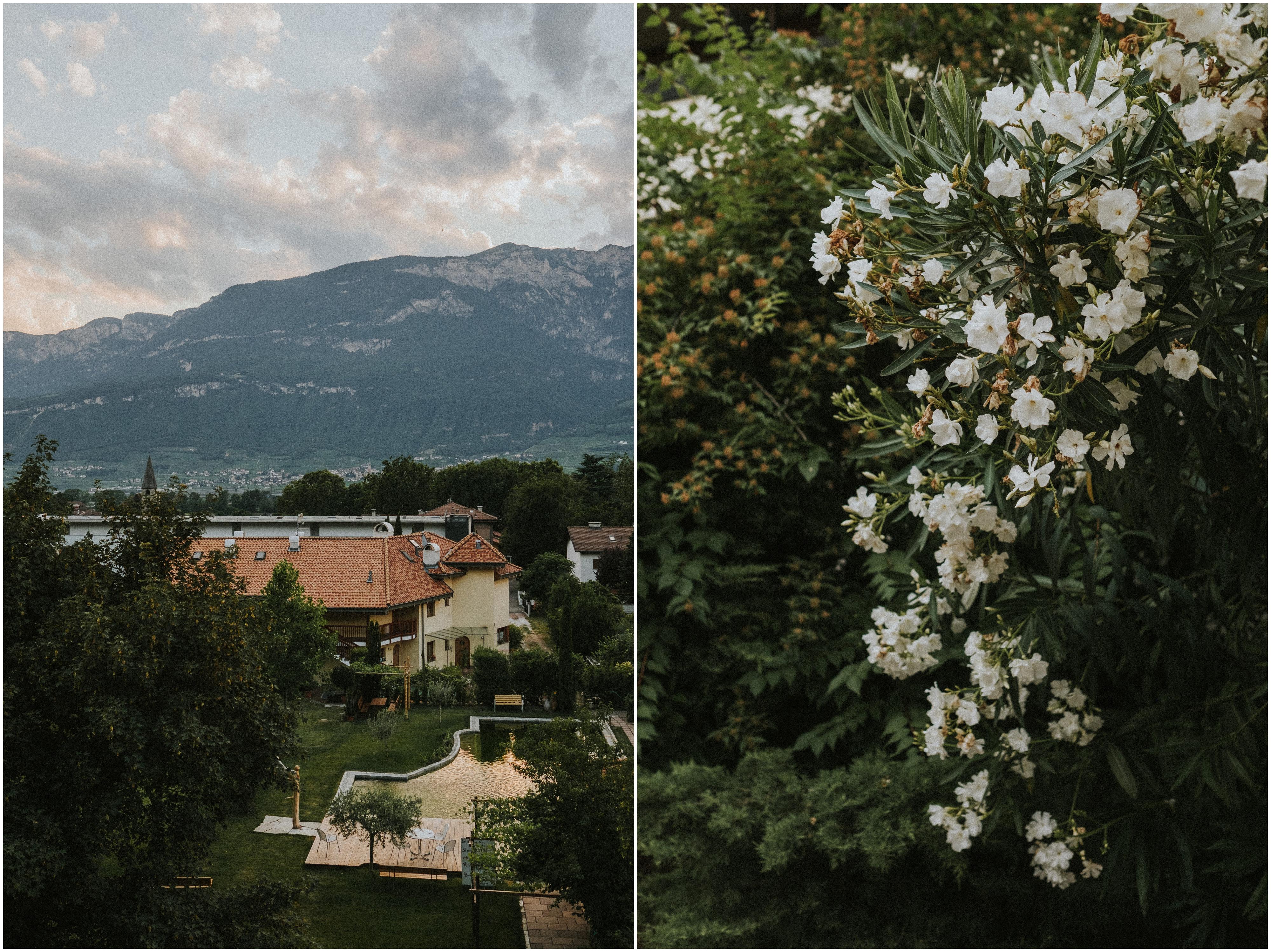 Das Biohotel Kaufmann in Auer / Südtirol - Ausblick auf die Dolomiten