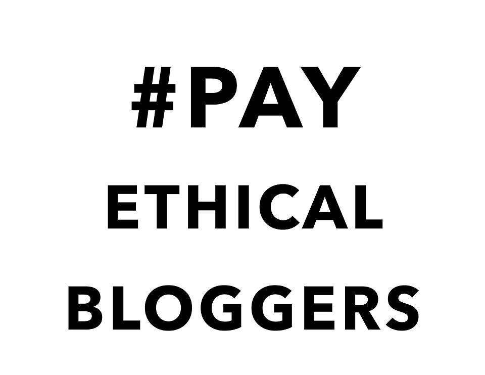 #payethicalbloggers